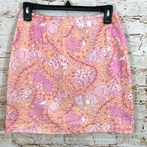 Lilly Pulitzer Jungle Kitty Cats skirt 4 pink